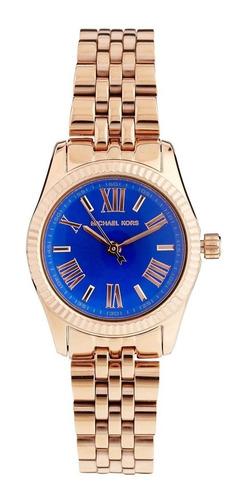 relógio luxo michael kors mk3272 orig anal gold blue!!!