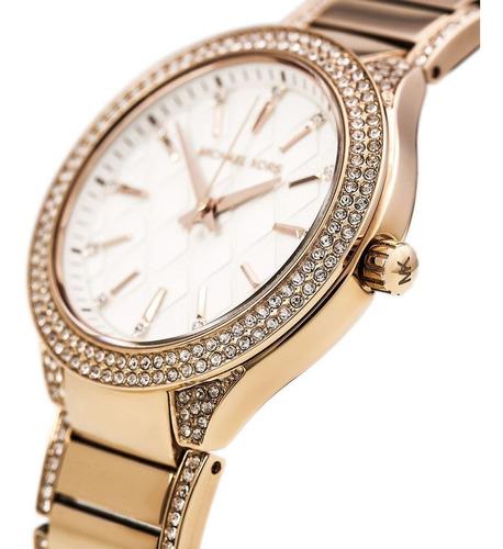 relógio luxo michael kors mk3348 orig anal gold swarovski