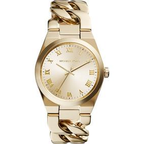 6094d8aa1 Relógio Luxo Michael Kors Mk3393 Orig Anal Champagne Ouro!