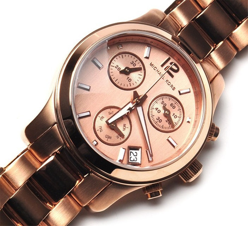 relógio luxo michael kors mk5430 orig chron anal ourorosé!!