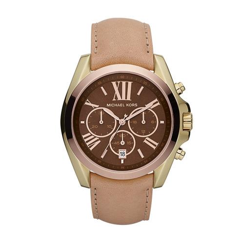 relógio luxo michael kors mk5630 orig chron anal couro!!