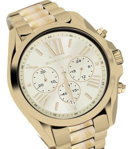 relógio luxo michael kors mk5722 orig chron anal gold!!!