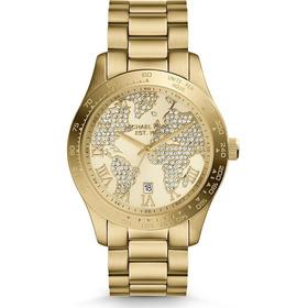 Relógio Luxo Michael Kors Mk5959 Orig Anal Gold Swarovski