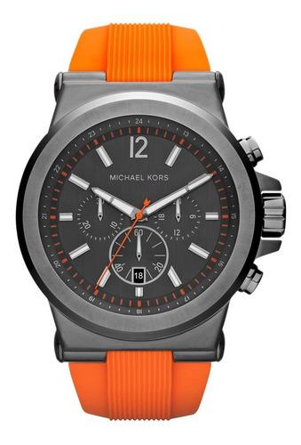 relógio luxo michael kors mk8296 orig chron anal orange!!!