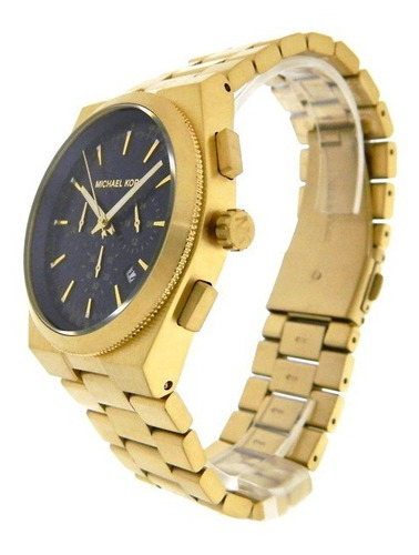 relógio luxo michael kors mk8338 orig chron anal ouro blue!!
