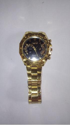 relogio m & h quartz dourado (cod. 00033)