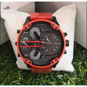Relógio M24 Diesel Dz7370 Mr Daddy Red Original