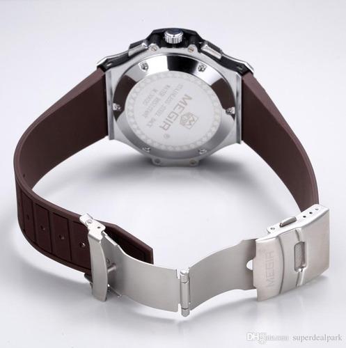 relógio maculino militar megir quartz original