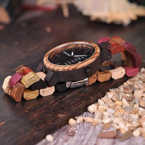relógio madeira bobo bird feminino e masculino p-14-1 p-14-4