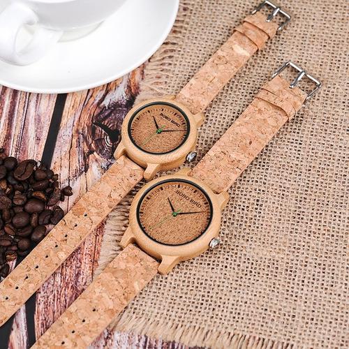 relógio madeira bobo bird norway original importado + brinde