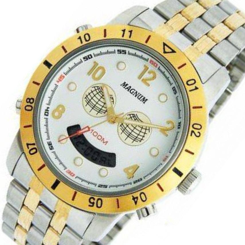 067a1332490 Relógio Magnum Cronografo Masculino Misto 10 Atm Ma10734b - R  339 ...