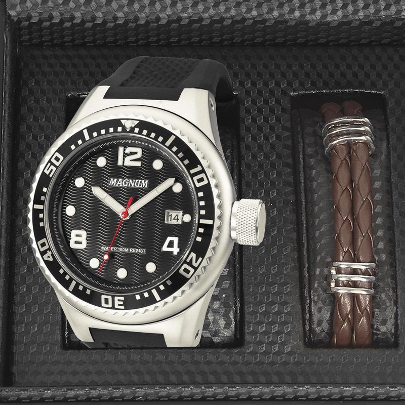 53a30f02431 relógio magnum masculino kit com pulseira ma34021x. Carregando zoom.