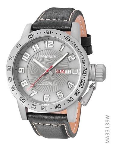 relógio magnum masculino ma33139w original pulseira couro