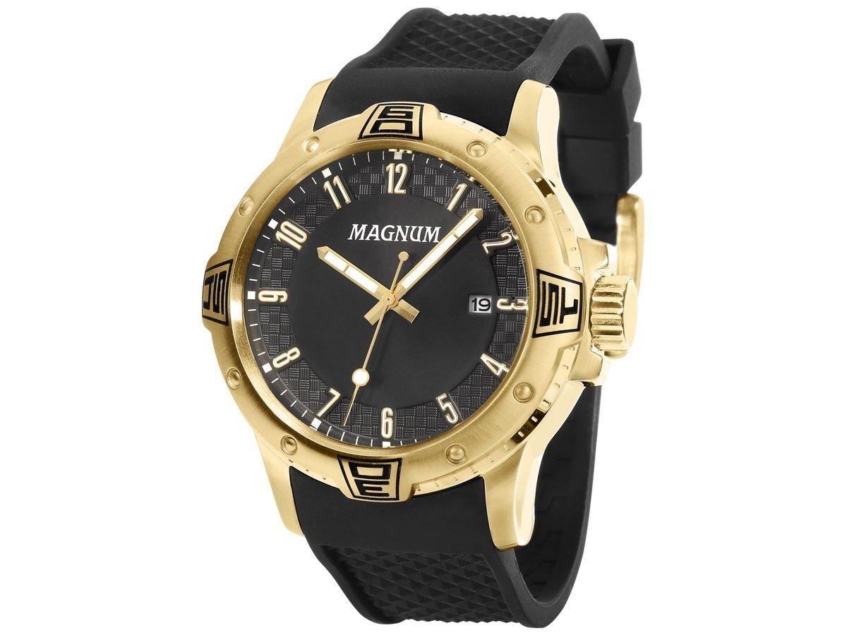 b310d15f95b relógio magnum masculino ma34414u original pulseira silicone. Carregando  zoom.