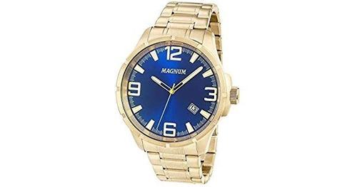 relógio magnum masculino - ma34781a casual dourado