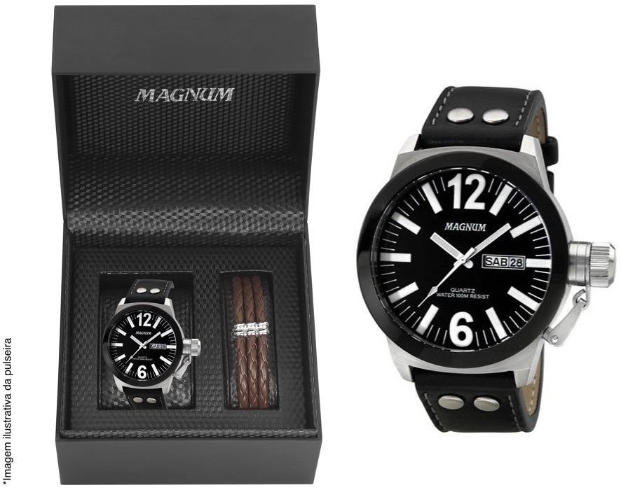 adbc82cbcee relógio magnum masculino military ma31533c + brinde + nota. Carregando zoom.