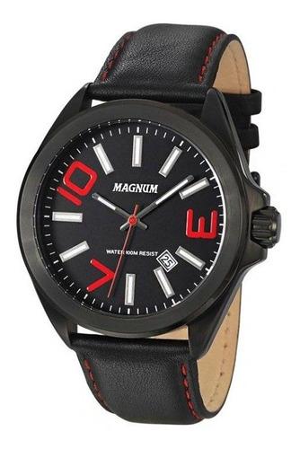 relógio magnum masculino original preto ma34370v