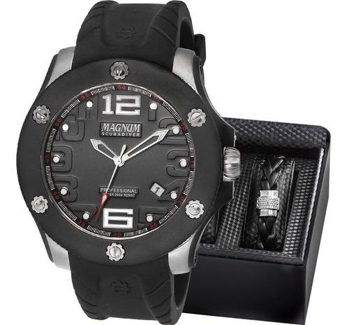 relógio magnum masculino scubadiver com pulseira ma30865c