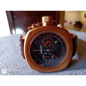 Relógio Magnum Plaque Ouro Cronografo Grandão,edição Extra