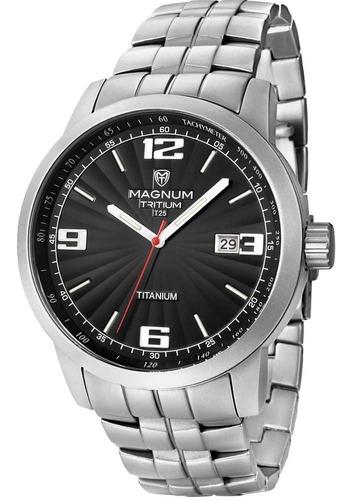 relógio magnum tritium mt30106t + 2 anos de garantia + nfe