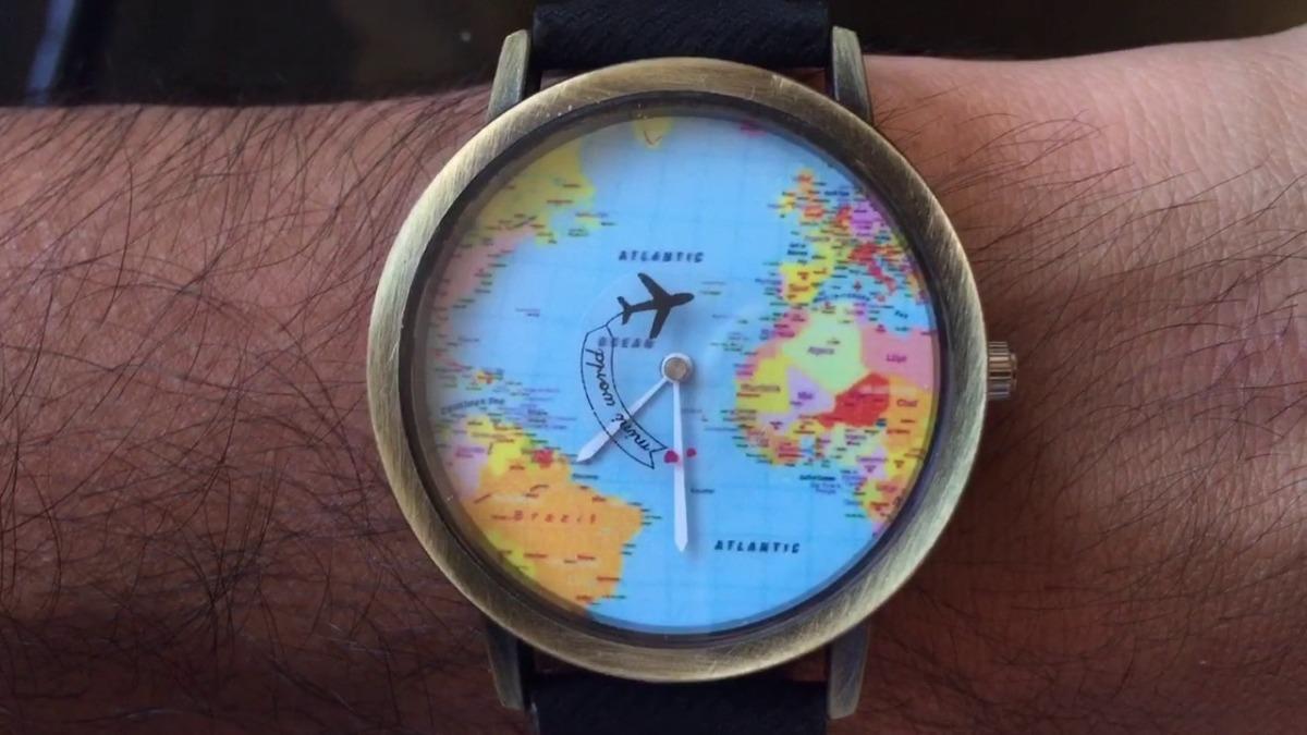 ca43ff39daf relogio mapa mundi pulso preto lindo promoção oferta barato. Carregando  zoom.
