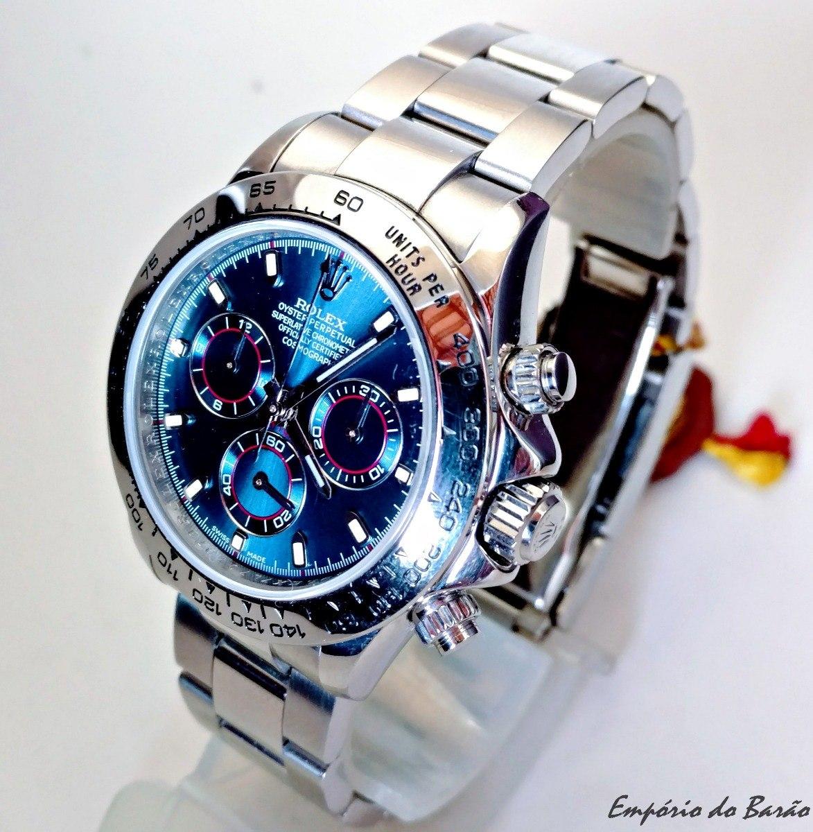 89d2729d5c6 relógio máquina eta mod.rx daytona blue dial. Carregando zoom.