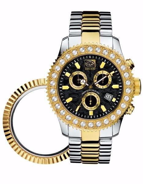 fee58869b3c Relógio Marc Ecko E20001g1 2 Tons Com Coroa Intercambiável - R  599 ...