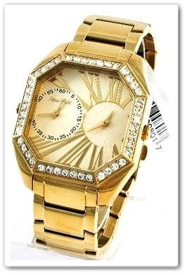 b80aef73b27 Relógio Marc Ecko Masculino Dourado Ouro 18k Cristais - R  1.099