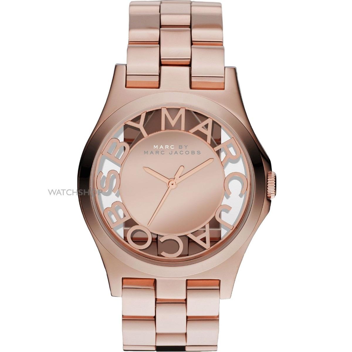 Relógio Marc Jacobs Skeleton Rose Mbm3207 - R  1.299,00 em Mercado Livre e668615a43