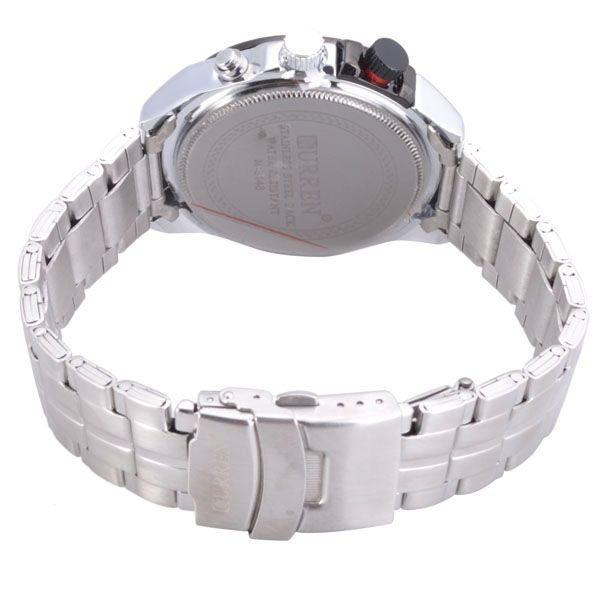 fbd1cc7a63b Relógio Marca Curren 8148 Masculino Aço Inox Original Novo - R  109 ...