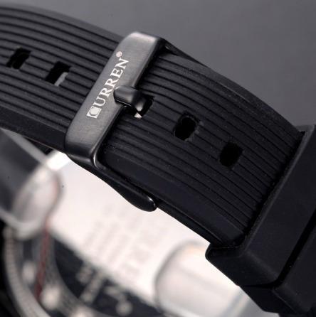 relógio marca curren modelo 8166 cor preto lindo