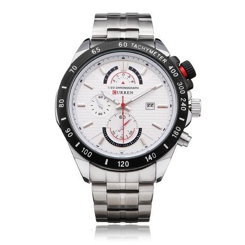 8c1f6f5c8db relógio marca curren 8148 masculino aço inox original novo · relógio marca  masculino