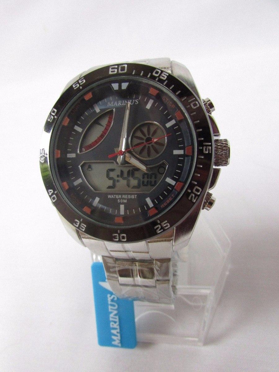 a31a9989f5d Relógio Marinus Cronometro Prata Analógico E Digital Nf - R  1.198 ...