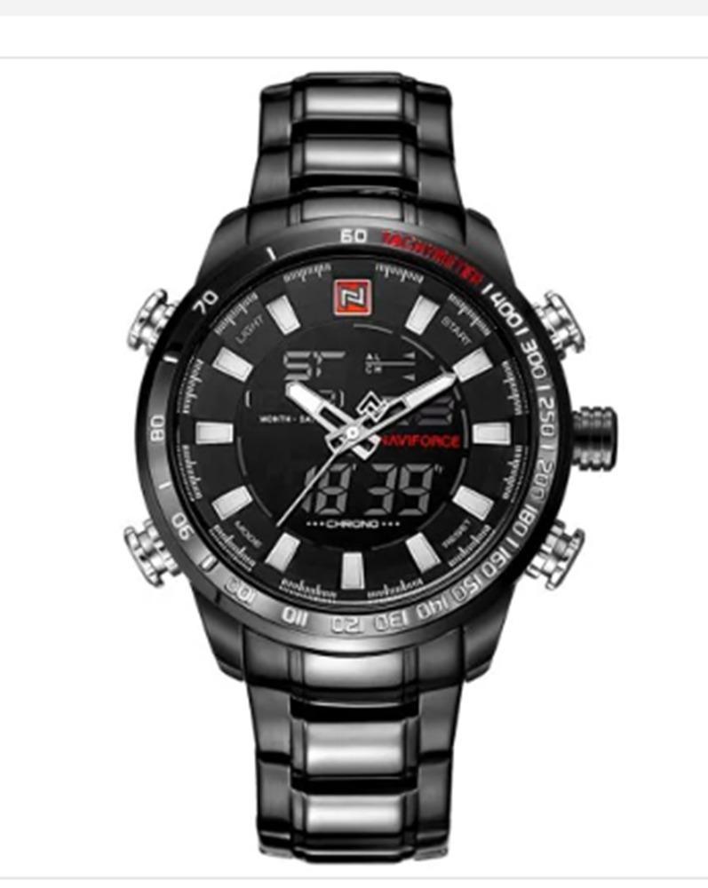 037cc717fbf relógio masc. naviforce 9093 esportivo preto original luxo. Carregando zoom.