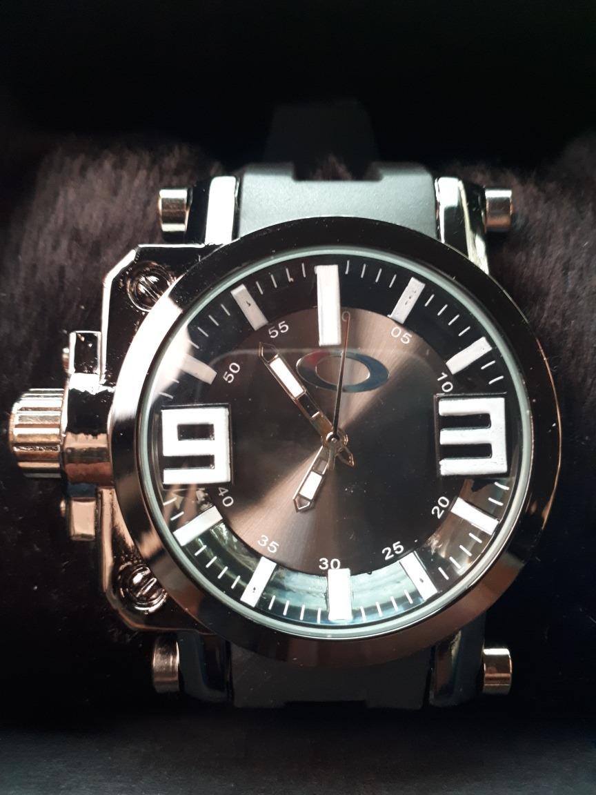 f4c754200b1 Relógio Masc. Oakley Gearbox Titanium Black Novo Com Caixa. - R  49 ...