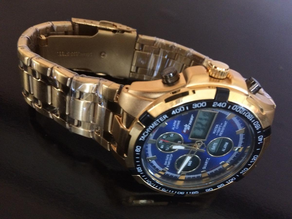 151e73f54ad relógio masculina dourado barato promoção. Carregando zoom.