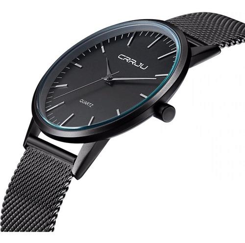 relógio masculino - a prova d'água - ultrafino - original