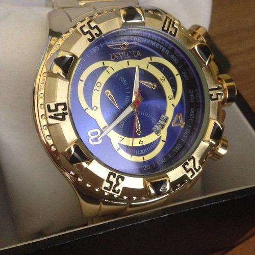 2a19627c24e Relógio Masculino Aço Dourado Pesado Grande Promoção - R  100