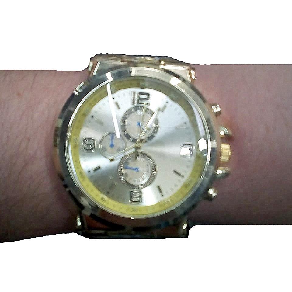 8f4c618afbe relógio masculino aço dourado pesado grande promoção. Carregando zoom.