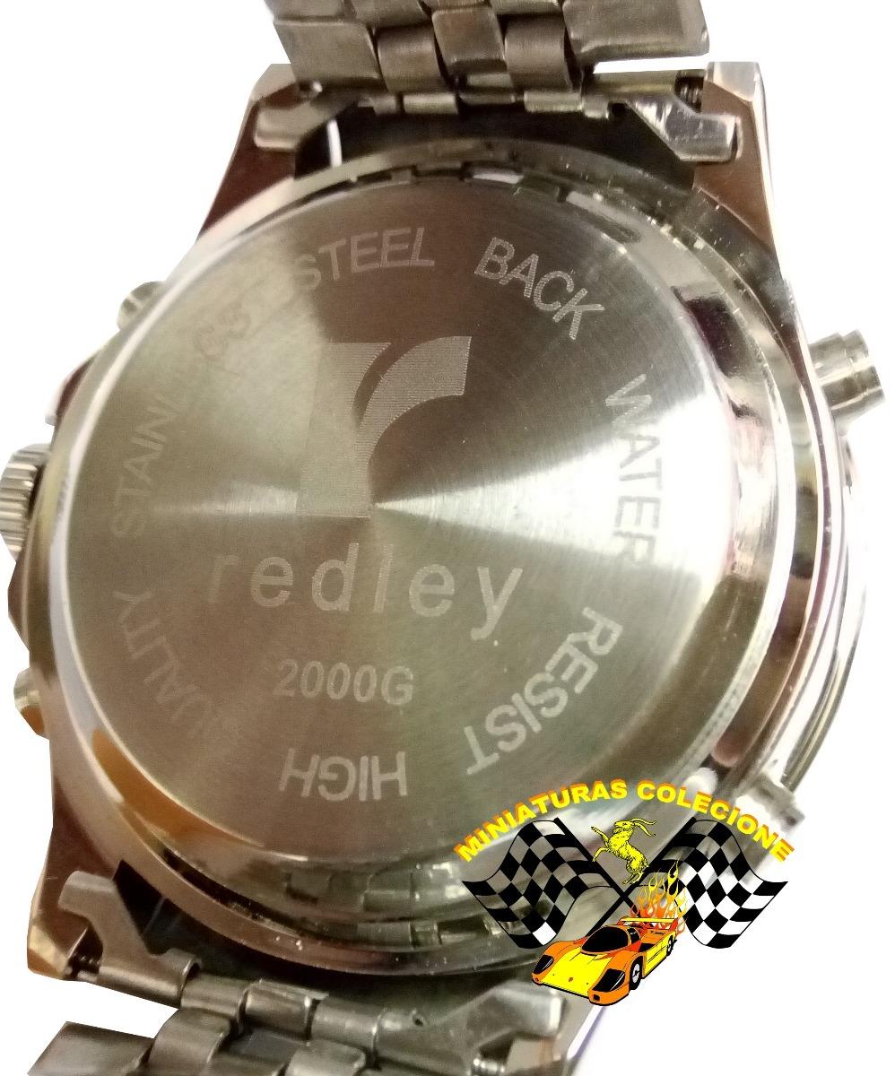 191e6f704c9 relógio masculino aço fundo branco luxo grande redley lindo. Carregando  zoom.