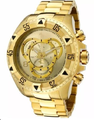 ea1526b44a6 Relógio Masculino Aço Grande Dourado Pesado Promoção - R  79