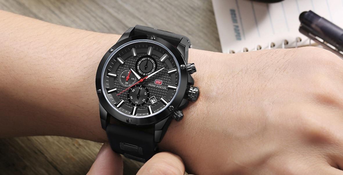 Relógio Masculino Aço Inox Preto Social Promoção Mini Focus - R  184 ... acc2564600
