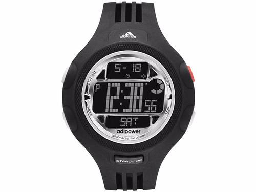 relógio masculino adidas performance adp3130/8pn 53mm preto