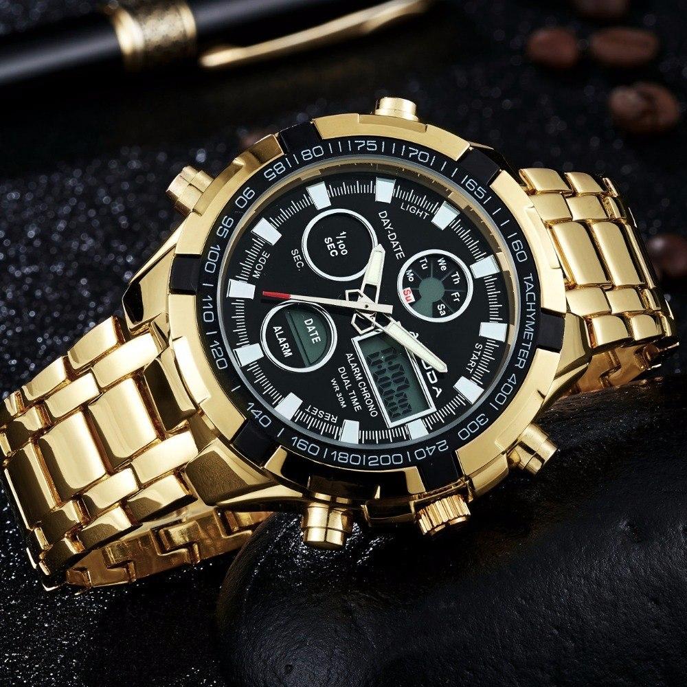 d4944480540 relógio masculino amuda luxo dourado. Carregando zoom.