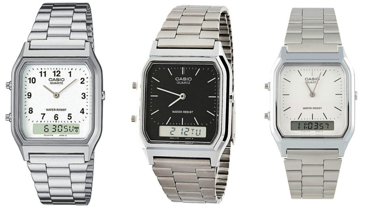 70b59a3f4f9 relógio masculino anadigi casio aq-230a prata original. Carregando zoom.