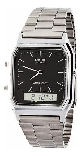 relógio masculino anadigi casio aq-230a prata original