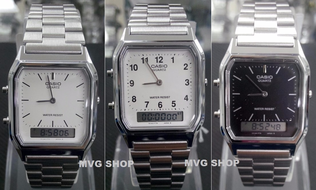 Relógio Masculino Anadigi Casio Aq-230a Prata Original Na Cx - R ... 3a81525826