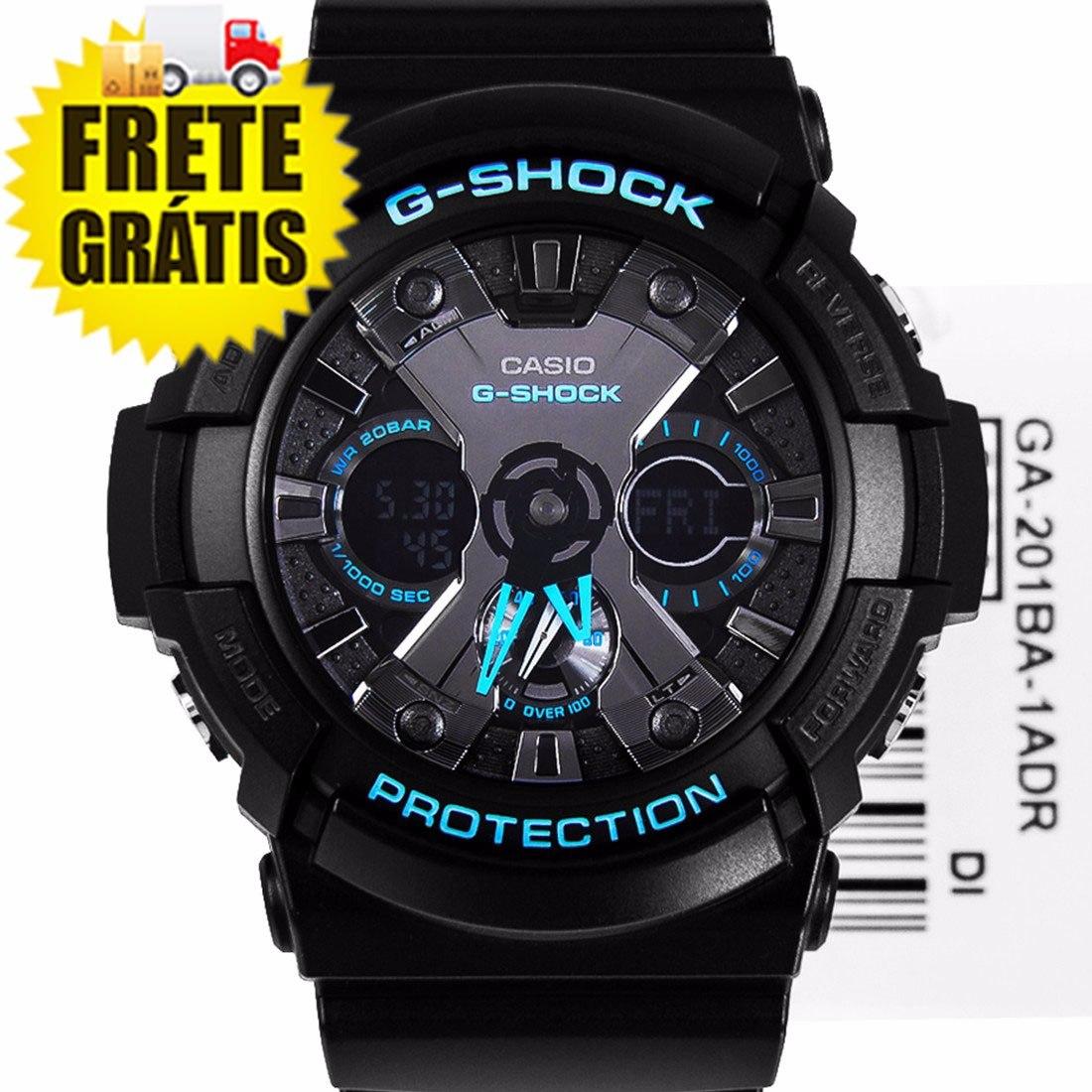 5479284a593 relógio masculino anadigi casio g-shock preto azul original. Carregando  zoom.