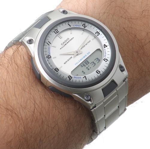 39814ae3477 Relógio Masculino Anadigi Casio Standard Aw-80d-7a - Prata - R  125 ...