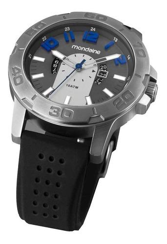 relógio masculino analógico 78531 mondaine - preto/cinza